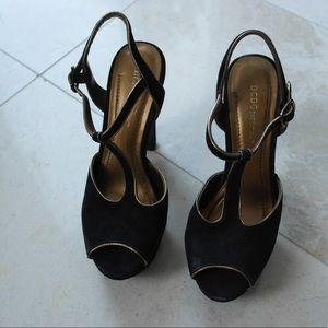 BCBG Black Suede Heels (SIZE 6)